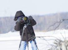 Wildlife photographer Royalty Free Stock Image