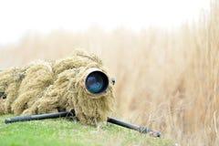 Wildlife photographer outdoor Royalty Free Stock Photo