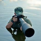 Wildlife photographer outdoor Royalty Free Stock Photography