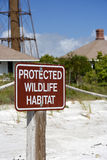 Wildlife Protection Sign Stock Photo