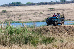 Wildlife Ranger Vehicle Tourists Royalty Free Stock Photo