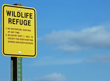Wildlife Refuge Sign Stock Images