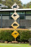 Wildlife Road Signs Stock Photos