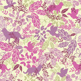 Wildlife seamless pattern background Stock Photos