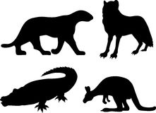 Wildlife silhouettes Stock Photo