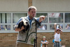 Wildlife speaker asks for volunteers Stock Photography