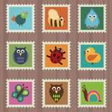 Wildlife stamps Royalty Free Stock Images
