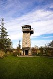 Wildlife Viewing Tower in a park. Wildlife Viewing Tower in a park and blue sky Stock Image