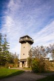 Wildlife Viewing Tower in a park. Wildlife Viewing Tower in a park and blue sky Stock Photo