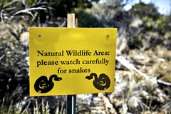 Wildlife Warning Sign Stock Images