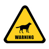 Wildlife warning yellow signal Stock Image