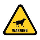Wildlife warning yellow signal Stock Image