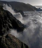 Wildocean. Strong storm on the coast of galicia Stock Photos