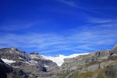 Wildstrubel glacier and alpine hut Stock Image