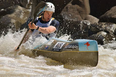 Wildwater Worldcup. A competitor at the recent Wildwater Worldcup held in Tasmania, Australia Royalty Free Stock Image