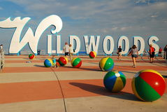 Wildwood Beach, New Jersey Shore Stock Image