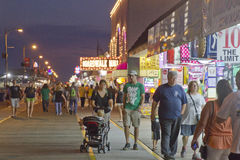 Wildwood Boardwalk at Night Stock Photo