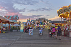 Wildwood Boardwalk at Twilight Royalty Free Stock Images
