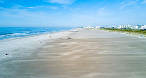 Wildwood Crest beach from above. Wildwood Crest wide beach from above, New Jersey, USA Royalty Free Stock Image