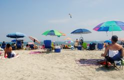 Wildwood New Jersey beach. A day at the beach in Wildwood New Jersey Royalty Free Stock Photo