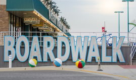 Wildwood, New Jersey, USA - May 26, 2016: View at the boardwalk, famous tourist spot. In Wildwood stock images
