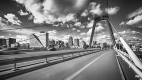 Wilemsbrug Bridge and Central Rotterdam Stock Photo