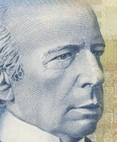 Wilfrid Laurier. As depicted on new Canadian five dollar bill Royalty Free Stock Images