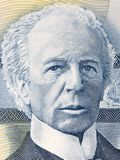 Wilfrid Laurier portrait. From Canadian money Royalty Free Stock Photos