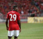 Wilfried Zaha (R) of Man Utd. Stock Image