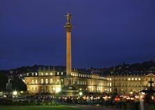 Wilhelm konung Jubilee Column - Jubilaumssaule i Stuttgart germany fotografering för bildbyråer
