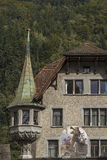 Wilhelm Tell - detalhe da casa Foto de Stock