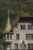 Wilhelm Tell - detalle de la casa Foto de archivo