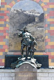 Wilhelm Tell monument at the cantonal capital of Altdorf Royalty Free Stock Images