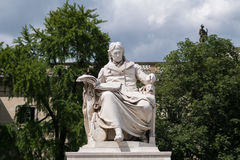Wilhelm von Humboldt statue at Humboldt University in Berlin Royalty Free Stock Photo