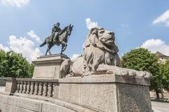 Wilhelm von Rumann in Stuttgart, Germany. Emperor Wilhelm von Rumann statue at the Karlsplatz in Stuttgart, Germany Royalty Free Stock Photography