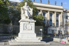 Wilhelm zu Humboldt statue Stock Photo