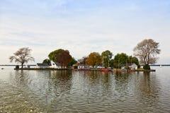 Wilhelmstein Island in the Steinhuder Meer lake Royalty Free Stock Photo