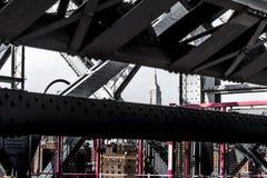 Wiliamsburg-Brücken-Detail, NY Lizenzfreies Stockbild