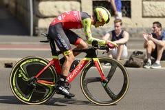 Wilier Drużynowy konkurent przy wysoką prędkością przy Giro 2017, Mediolan Zdjęcia Royalty Free