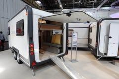 Wilk Deseo transporthusvagn som används som permanent hem Arkivfoton