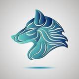 Wilk głowy profilu logo Akcyjny wektor Obraz Stock