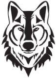 Wilk kierownicza sylwetka odizolowywająca na białym tle ilustracja wektor