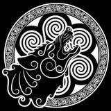 Wilk na celta stylu, wy wilka w Celtyckim ornamencie ilustracji