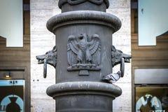 Wilka i orła szczegół w Rzym, Włochy Zdjęcia Stock