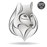 Wilka Kierowniczy logo Akcyjny wektor Obrazy Stock