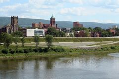 Wilkes-Barre, Pennsylvania. A view of Wilkes-Barre, Pennsylvania. Wilkes-Barre is a city in Northeastern Pennsylvania, United States. Wilkes-Barre's population Stock Photo