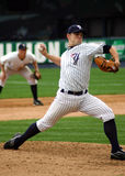 Wilkes Barre Scranton Yankees pitcher. Throws a pitch against the Columbus Clippers Stock Photography