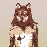 Wilkołak ilustracji