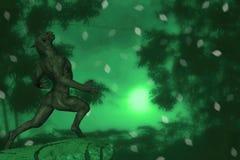 Wilkołaka I księżyc ilustracja royalty ilustracja