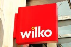 Wilko logotecken Fotografering för Bildbyråer